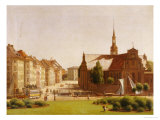 The Palace Square and Holmens Kirke, Copenhagen Premium Giclee Print by Constantin Hansen