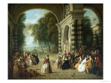 The Pleasures of the Ball Reproduction procédé giclée par Jean-Baptiste Pater