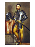 Portrait of a Gentleman Wearing Half-Armour, Trunk Hose and a Sword Giclee Print by Paolo Caliari