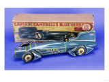"A Gunthermann ""Captain Campbell's Bluebird"", Clockwork Blue Lithographed Tinplate Car, circa 1931 Print"