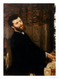 Portrait of the Singer George Henschel Playing Alma-Tademas Piano, Townshend House, 1879 Print by Sir Lawrence Alma-Tadema