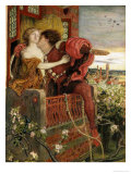 Romeo and Juliet, 1868-71 Art by Ford Maddox Brown