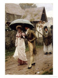 A Wet Sunday Morning, 1896 Gicléedruk van Edmund Blair Leighton