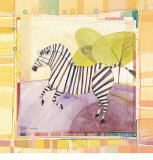 Playful Zebra Poster by Robbin Rawlings