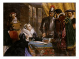 The Forced Abdication of Mary, Queen of Scots (1542- 1587), at Lochleven Castle, 25th July 1567 Giclee Print by Charles Lucy