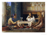 Egyptian Chessplayers Posters by Sir Lawrence Alma-Tadema