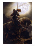 Sir Galahad's Vision of the Holy Grail Giclee Print by Joseph Noel Paton
