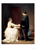 The Proposal, 1860 Giclee Print by Alfred W. Elmore