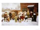 New Years Day, New Amsterdam Prints by George Henry Boughton