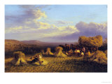 Harvest Scene, 1876 Premium Giclee Print by George Cole
