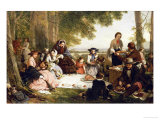 A Picnic, 1857 Prints by Henry Nelson O'Neil