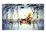 Japanese Procession Giclee Print