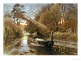 The Lady of Shalott Print by Albert Goodwin