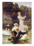 A Day on the River Posters by Frederick Morgan