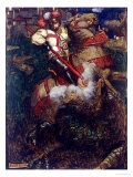 St George Slaying the Dragon, 1908 Giclee Print by John Byam Shaw