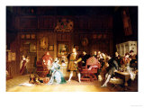 Henry VIII and Anne Boleyn Observed by Queen Katherine, 1870 Premium Giclee Print by Marcus Stone