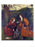 Pharmakeutria (Brewing the Love Philtre) Premium Giclee Print by Marie Spartali Stillman