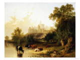 A View of Windsor Castle from the Thames Giclee Print by Henry John Boddington