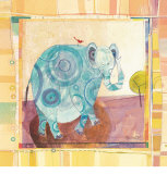 Playful Elephant Prints by Robbin Rawlings