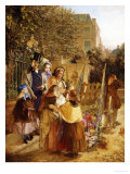 The Upset Flower Cart Premium Giclee Print by W.a. Atkinson