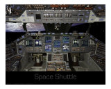 Space Shuttle Flight Deck Photographic Print by Kevin Oke