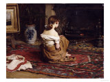 By the Fireside, 1878 Giclee Print by Frank Holl