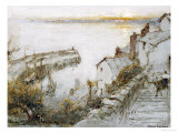 Clovelly Giclee Print by Albert Goodwin