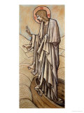 Christ Stilling the Waves: a Design for Stained Glass at Brighouse, Yorkshire, 1896 Giclee Print by Edward Burne-Jones
