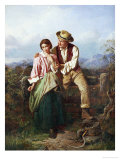 Rustic Courtship Giclee Print by William Henry Midwood