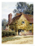 A Cottage at Denham, Buckinghamshire Poster by Helen Allingham