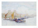 The Tower of London from the Thames with Shipping in the Foreground Prints by Herbert Menzies Marshall