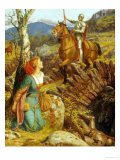 The Overthrowing of the Rusty Knight Giclee Print by Arthur Hughes