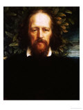 "The ""Bowman"" Portrait of Alfred, Lord Tennyson, as Poet Laureate, 1864 Prints by George Frederick Watts"