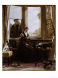 Lady Jane Grey and Roger Alscham, 1853 Giclee Print by John Callcott Horsley