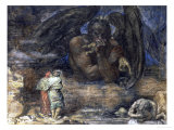 Dante and Virgil Encounter Lucifer in Hell, 1923 Giclee Print by Henry John Stock