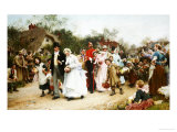 The Village Wedding Giclee Print by Samuel Luke Fildes