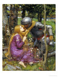 A Study for La Belle Dame Sans Merci Art by John William Waterhouse