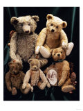A Selection of Bing Teddy Bears, circa 1910 Giclee Print
