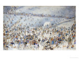 Figures Ice Skating, 1876 Giclee Print by Charles Altamount Doyle