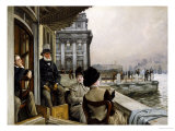 The Terrace of the Trafalgar Tavern, Greenwich, circa 1878 Posters by James Tissot