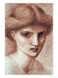 Study of a Girl's Head Art by Edward Burne-Jones