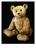 Fine Steiff Pale Golden Plush Covered Teddy Bear with Large Deep Set Black Button Eyes, circa 1910 Posters by Steiff