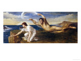 Boreas and Orithyia Giclee Print by Oswald Von Glehn
