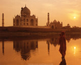 Taj Mahal, India Posters by Peter Adams