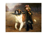 Off to School Giclee Print by Charles Burton Barber