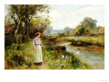 By the River Poster by Ernest Walbourn