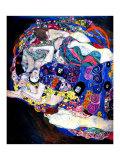 Gustav Klimt - The Maiden Digitálně vytištěná reprodukce