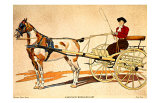 Painted Harness Pony Giclee Print by Edward Penfield