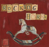 Rocking Horse Prints by Katherine &amp; Elizabeth Pope
