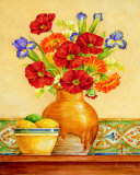 Salsa Poppies Posters by Pamela Gladding